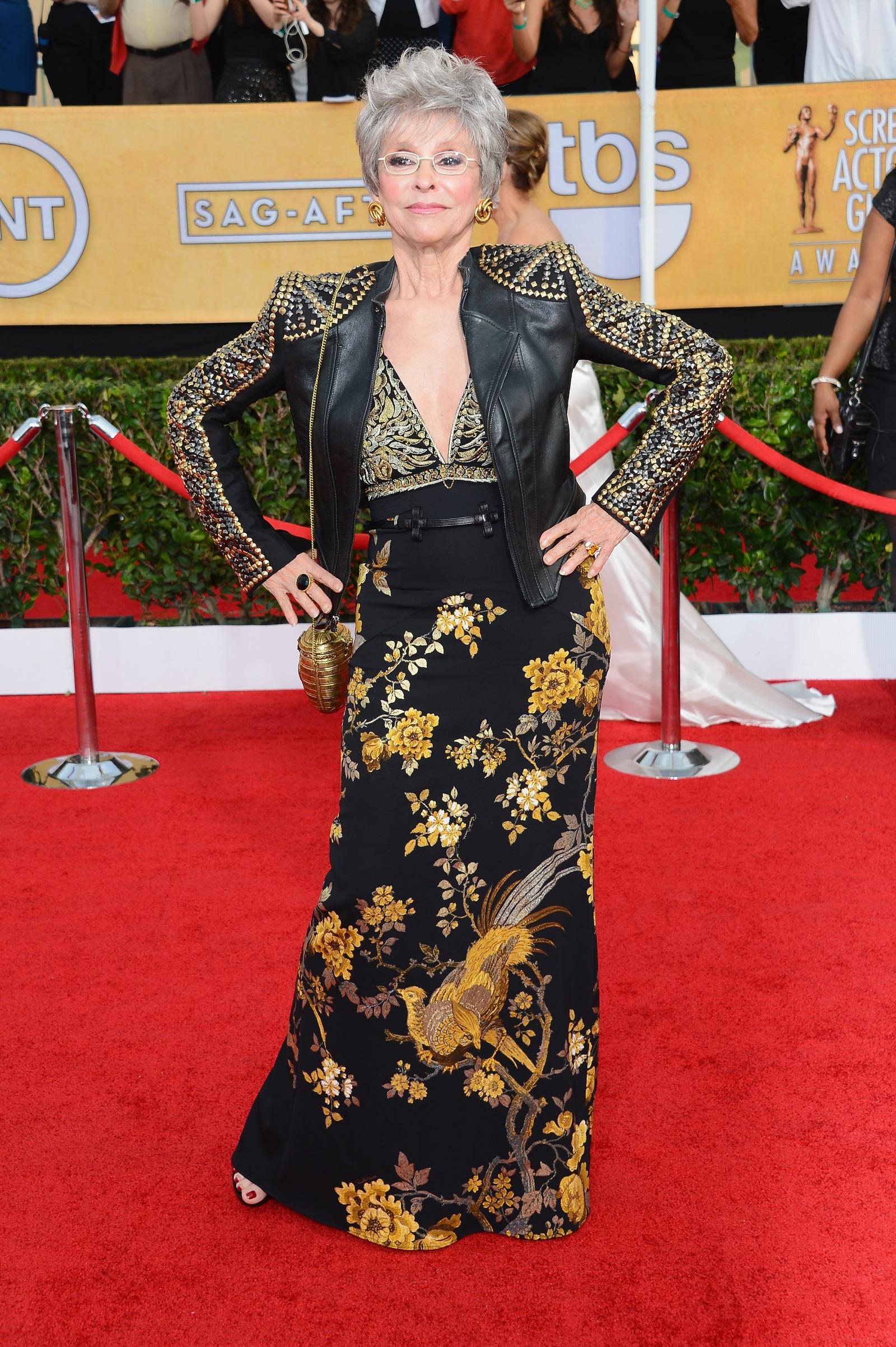 Рита Морено (2014 г.) като рок звезда наНаградите на Гилдията на филмовите актьори в Лос Анджелис.