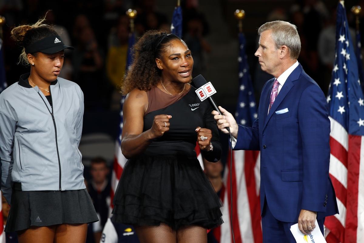Серина Уилямс и нейният костюм на злополучния финал на US Open.