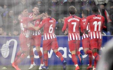 Атлетико не срещна трудности с последния в Ла Лига
