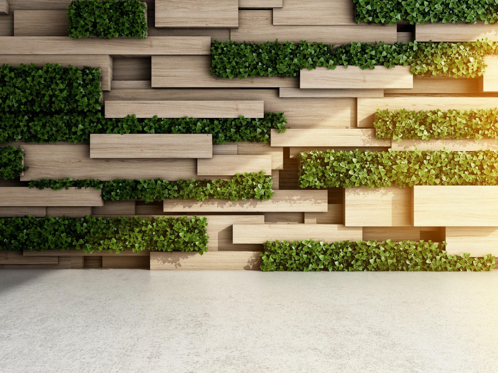 Системата от растения, разположена по стените, на височината на погледа, оказват изумителен ефект върху хората.