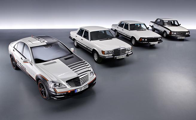 Предишните ISF модели на Mercedes, всеки от които представящ за пръв път различни технологични решения.