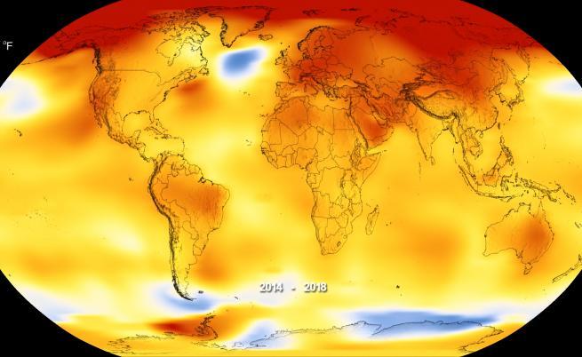 2018 г. е четвъртата най-гореща и с лоши последици