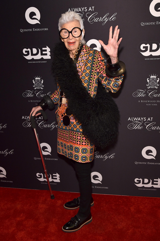Модната икона Айрис Апфел подписа договор с престижната модна агенция IMG.