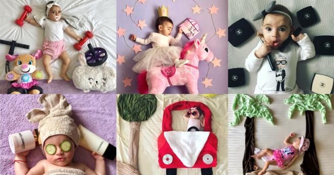 Снимка: Малката принцеса Ванеса, която е само на годинка, а вече язди еднорог, почива на самотен остров, кара кола и лети с балон