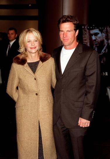 <p><strong>Мег Райън и Денис Куейд</strong></p>  <p>Актьорите се женят през 1991 г. на церемония в хотел &bdquo;Бел Еър&ldquo;, а година по-късно се ражда единственото им дете, Джак. Двойката се разделя през 2000 г.</p>