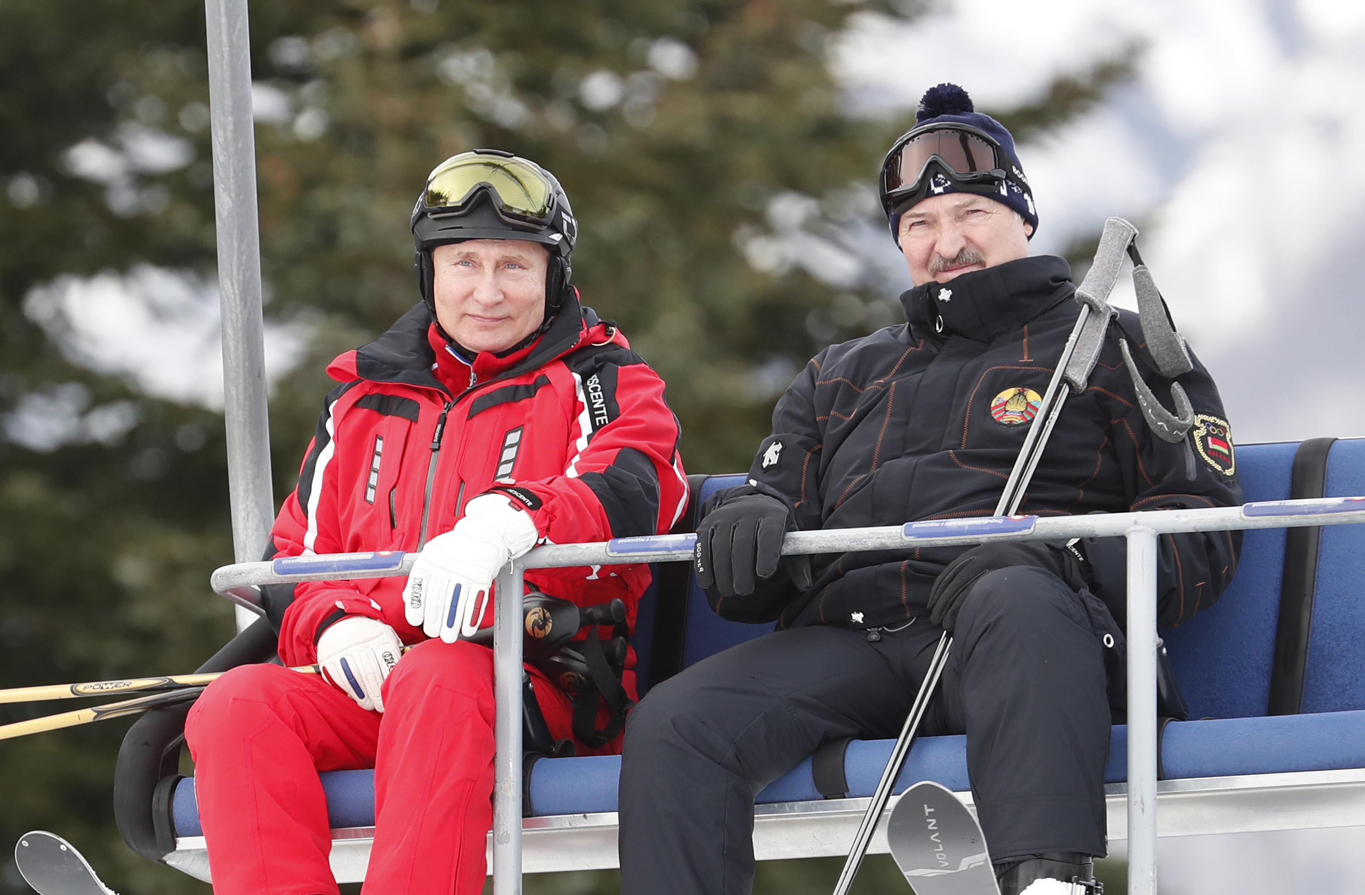 Руският президент Владимир Путин и Александър Лукашенко президент на Беларус