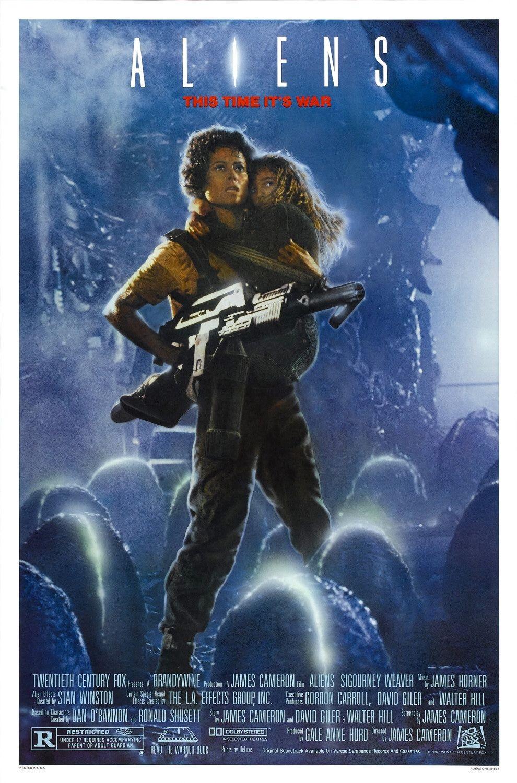 """Aliens / """"Пришълци"""" (1986) – Режисьор: Джеймс Камерън; Участват: Сигърни Уийвър, Майкъл Бийн, Бил Пакстън."""
