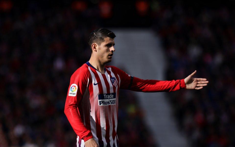 Нападателят на Атлетико Мадрид Алваро Мората и семейството му получиха
