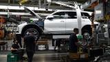 BMW X7 на поточната линия в Спартанбург. За да стартира производството, в завода бяха инвестирани над $1 млрд. и бяха открити нови 2000 работни места. На поточната линия X7 се сглобява успоредно с Х5 и Х6.