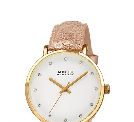 Промоция на Часовник с кожена каишка August Steiner