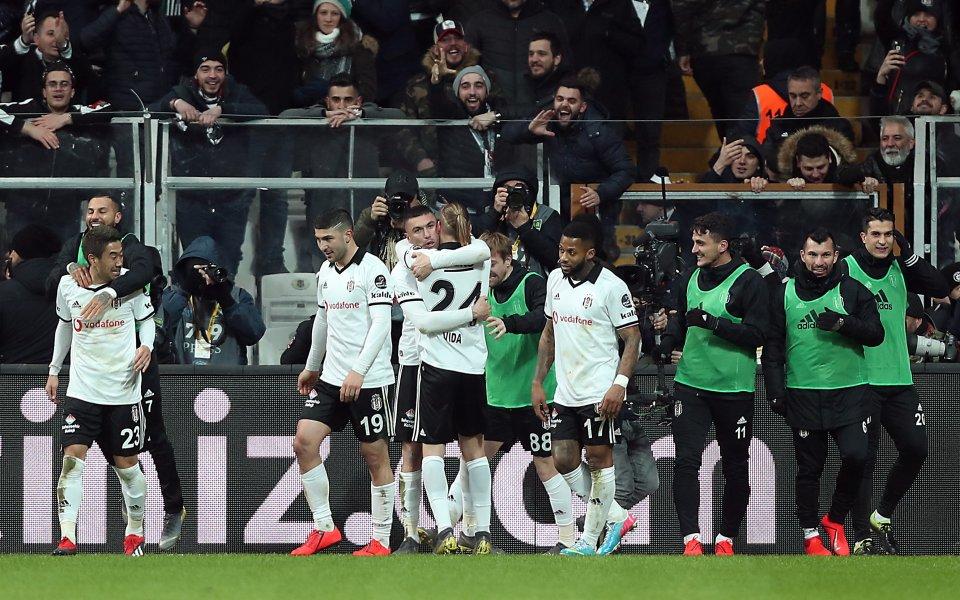 Бешикташ спечели с 2:0 дербито на турската Суперлига срещу големия