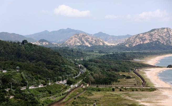 Демилитаризираната зона (ДМЗ) Северна Южна Корея
