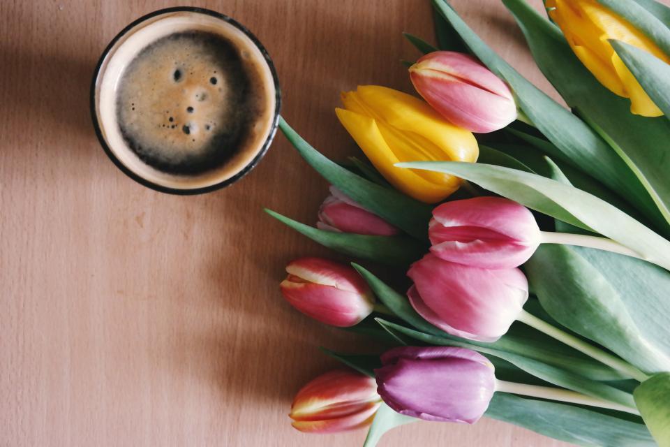кафе цветя