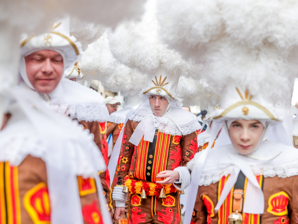 Централна фигура в карнавалните шествия са т. нар. Жильс (Gilles) – шутове, глупаци, смешници.
