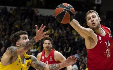 Везенков не игра при загуба на Олимпиакос в Евролигата