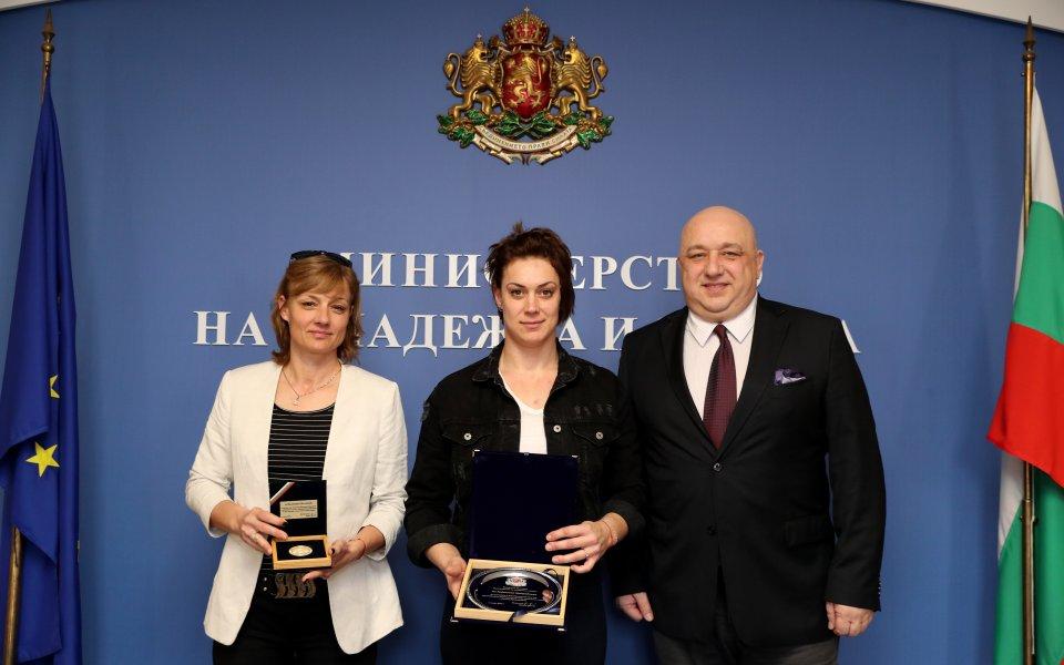 Кралев награди европейската шампионка Мавродиева