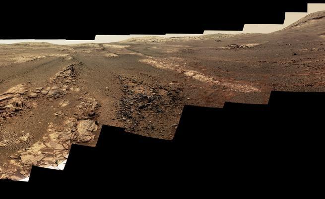 Последната панорамна снимка от Opportunity