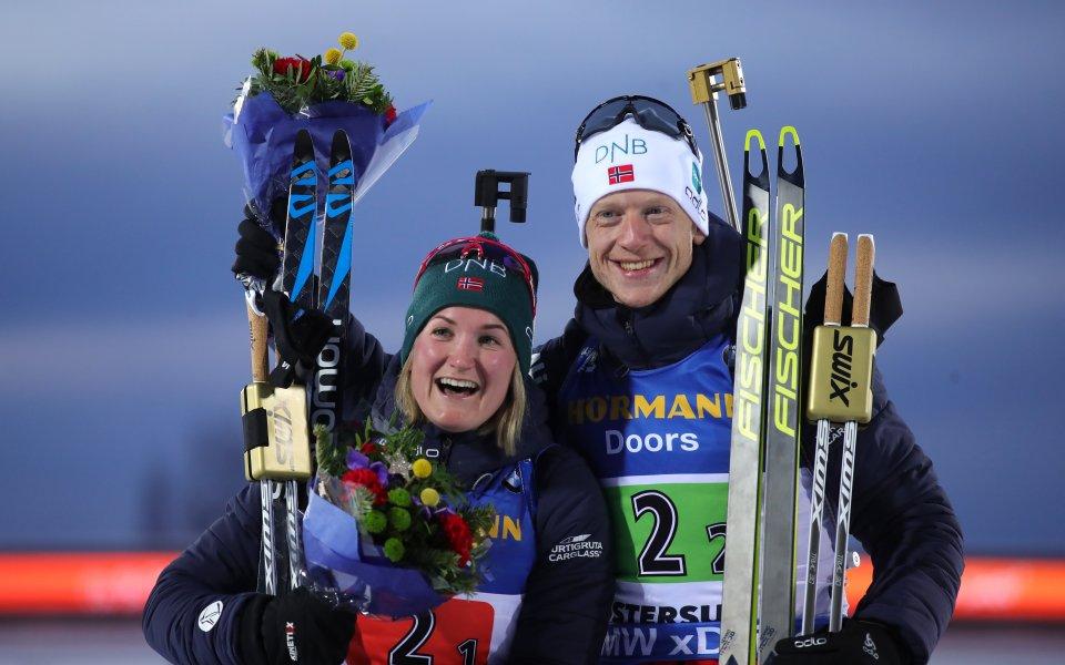 Норвегия е първият световен шампион в индивидуалната смесена щафета в биатлона, България на 19-о място