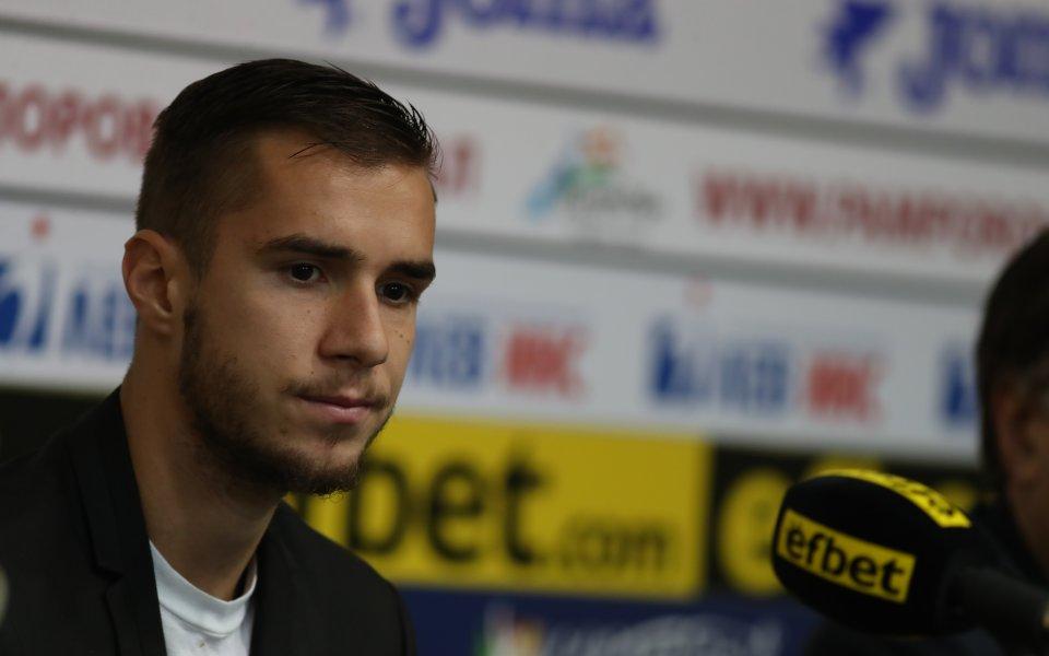 Българският атакуващ полузащитник Антонио Вутов подписа договор за 3 сезона