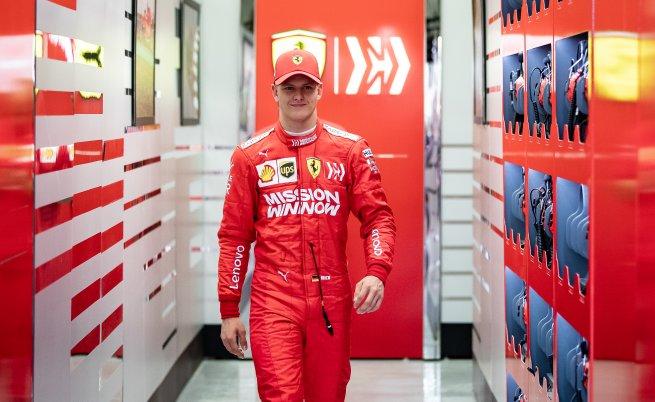 Мик Шумахер тества за Ферари в Бахрейн, април 2019