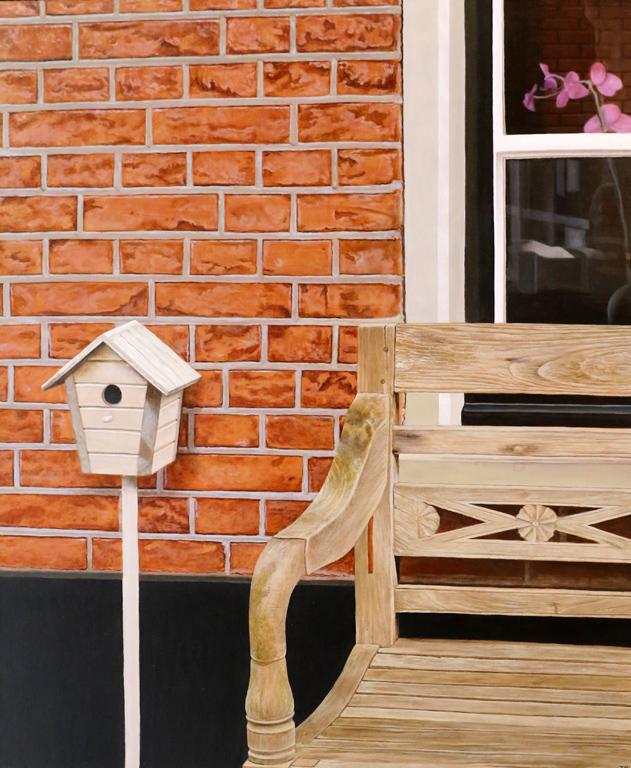 Или пък пейка, а до нея малка къщичка за птици, които се запечатват с топлия спомен за малък холандски град