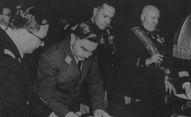 Анте Павелич и Бенито Мусолини
