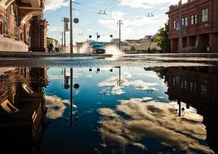 Наводнения и закъсали автомобили в Русе