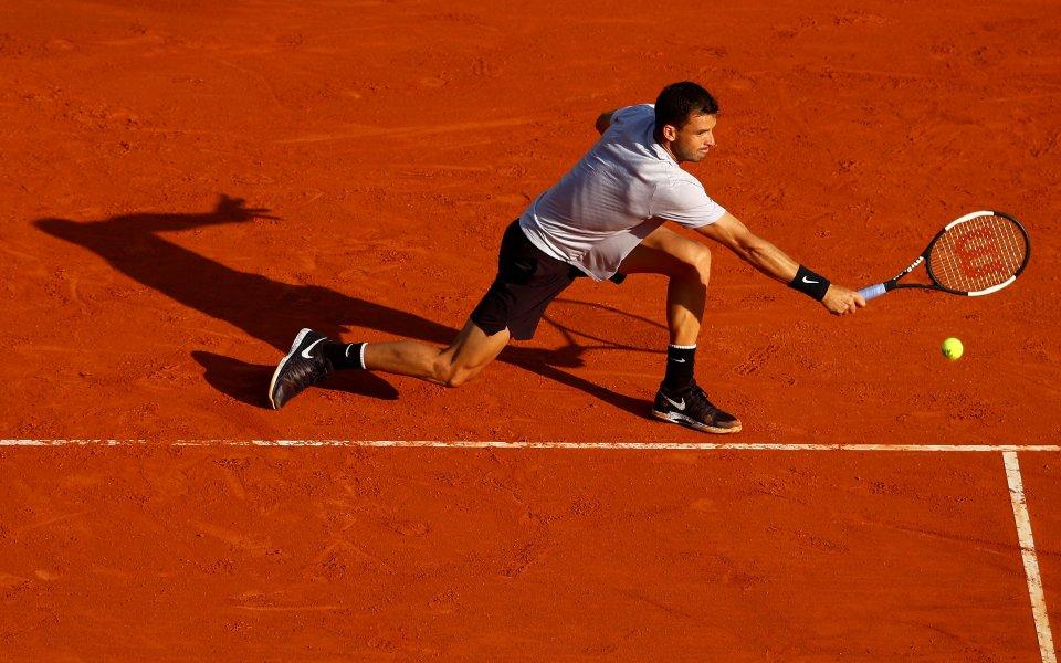 Българският тенисист Григор Димитров излиза от 15.05 часа за втория