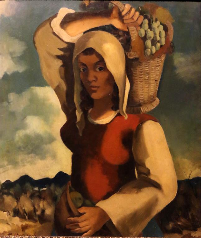 Бенчо Обрешков, гроздоберачка, 1954г.