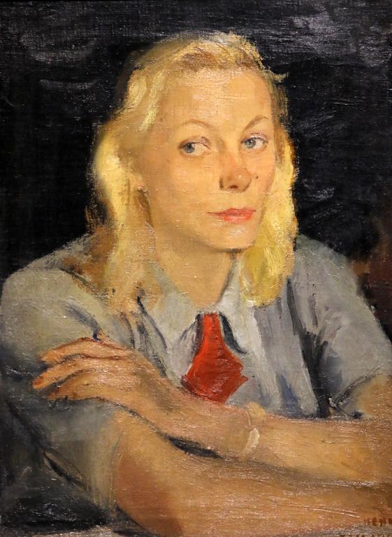 Ненко Балкански, портрет на Валеска, 1957г.
