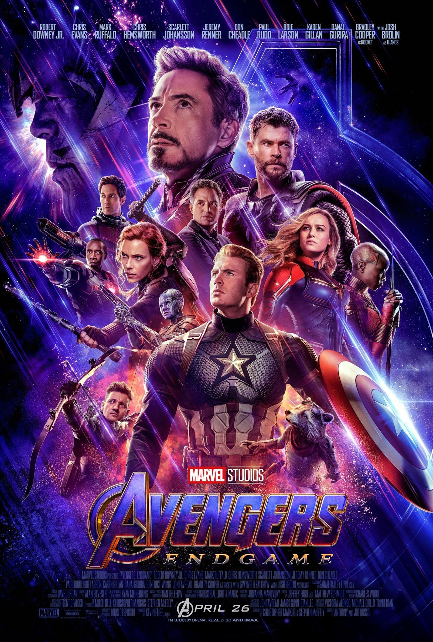 """Avengers: Endgame / """"Отмъстителите: Краят"""" – Премиерна дата: 26/04/2019; Режисьори: Джо и Антъни Русо; Участват: Крис Еванс, Джош Бролин, Робърт Дауни Джуниър"""