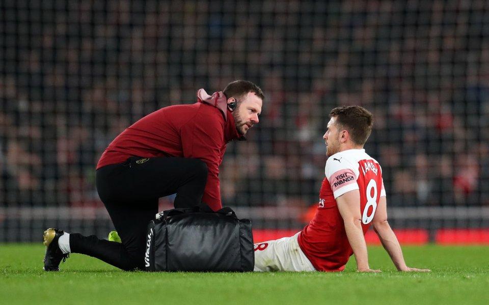 Снимка: Изигра ли Рамзи последния си мач за Арсенал?