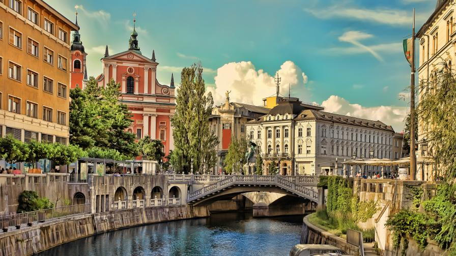 Любляна, столицата на Словения