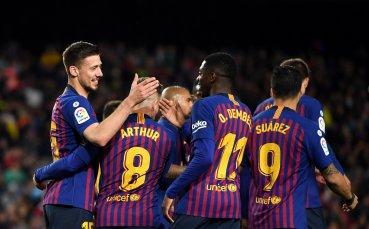 Барселона с поредна крачка към 26-ата титла в Испания (видео)