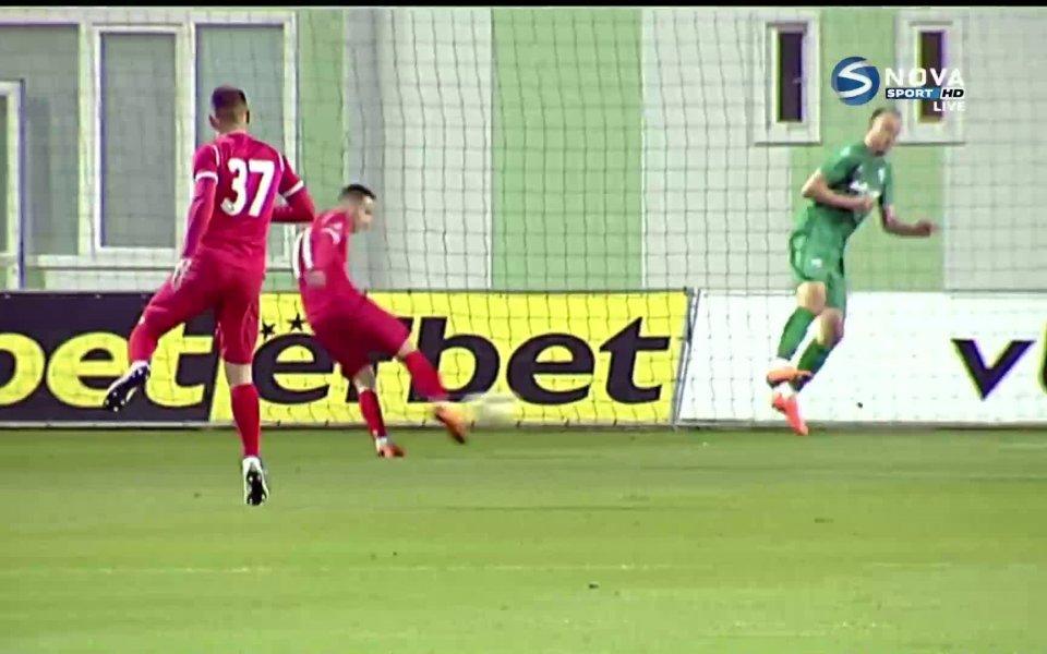 Отборът на Ботев Враца стигна до втори гол в 25-ата