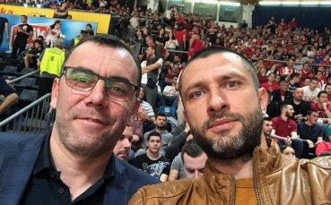 Президентът на Левски Лукойл сред зрителите на финала в Адриатическката лига