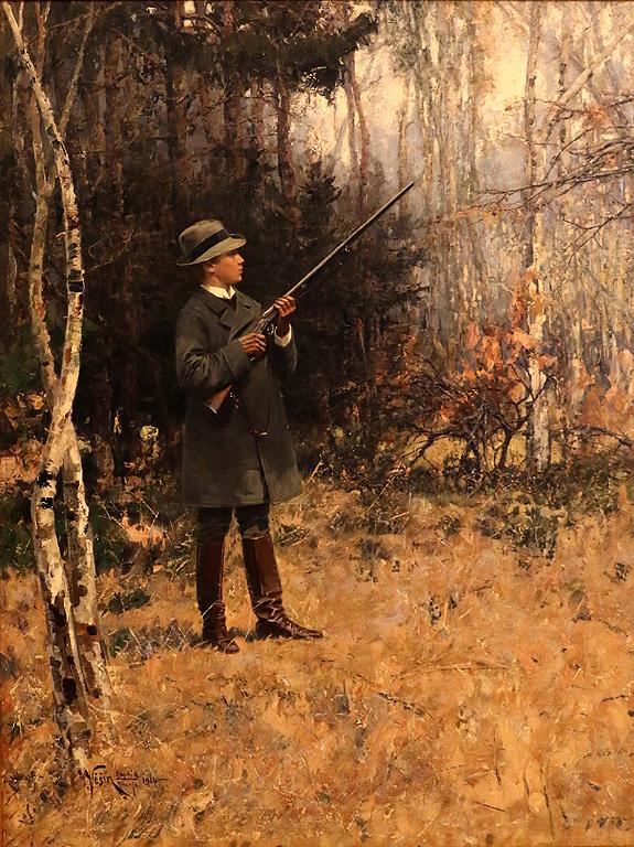 Ярослав Вешин Княз Кирил на лов в парка Врана, 1910г. Част от колекцията на цар Фердинанд