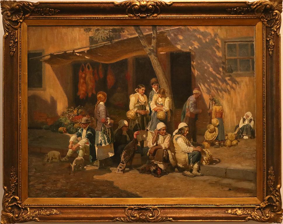 Антон Митов Селянки на пазар в София 1903г.