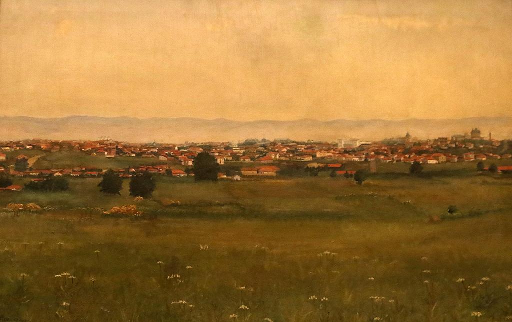 Харалампи Илиев Пейзаж край София 1898г.