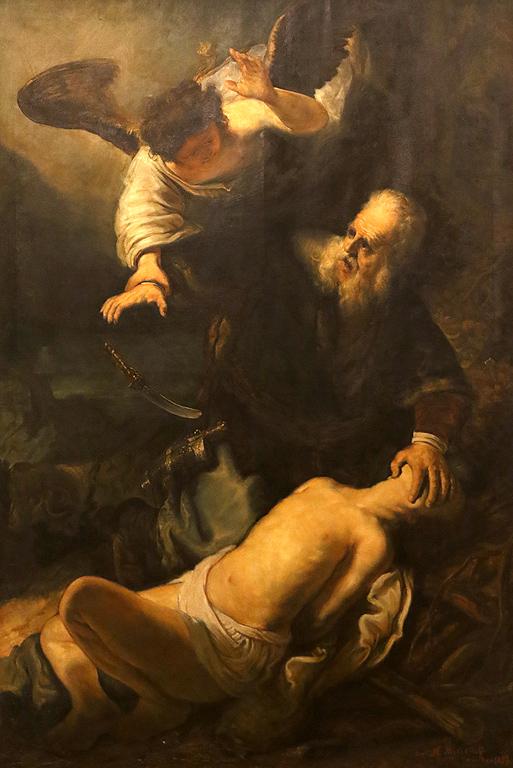 Никола Михайлов Жертвоприношението на Авраам 1897г. копие по Рембранд откупена от княз Фердинанд от Втората обща изложба 1897г.