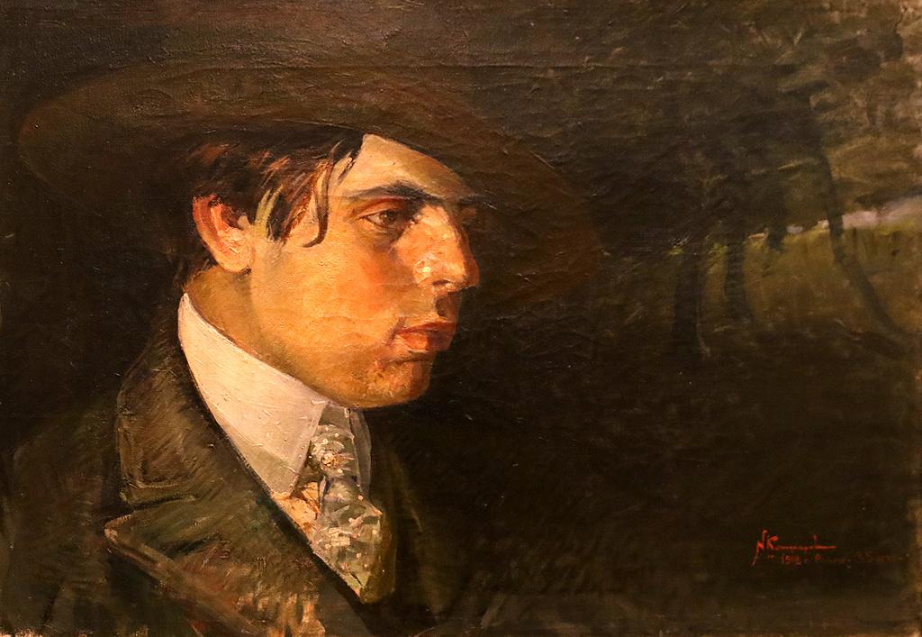 Никола Кожухаров Портрет на проф. Атанас Илиев 1912г.