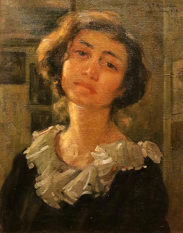 Елисавета Консулова - Вазова Автопортрет 1919г.