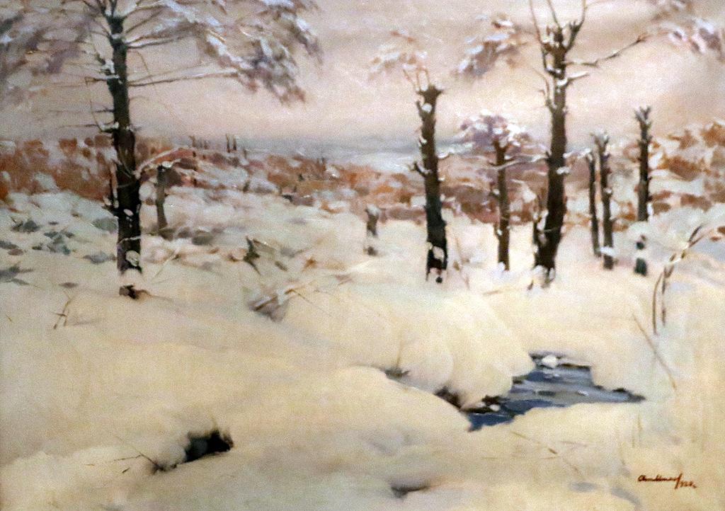 Атнанас Михов Зимен пейзаж 1920г.