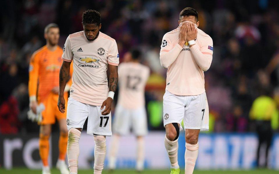 """Манчестър Юнайтед загуби с 0:2 от Манчестър Сити на """"Олд"""