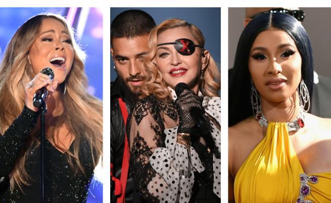 Мадона, Марая Кери и още куп звезди заедно (СНИМКИ)