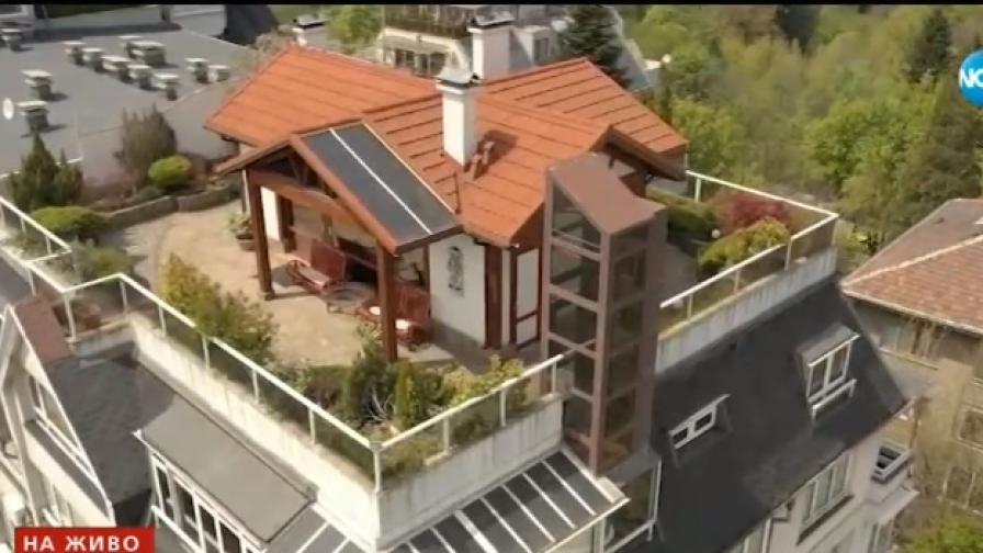 "На покрив в ""Лозенец"": Постройка с асансьор, двор и озеленяване"