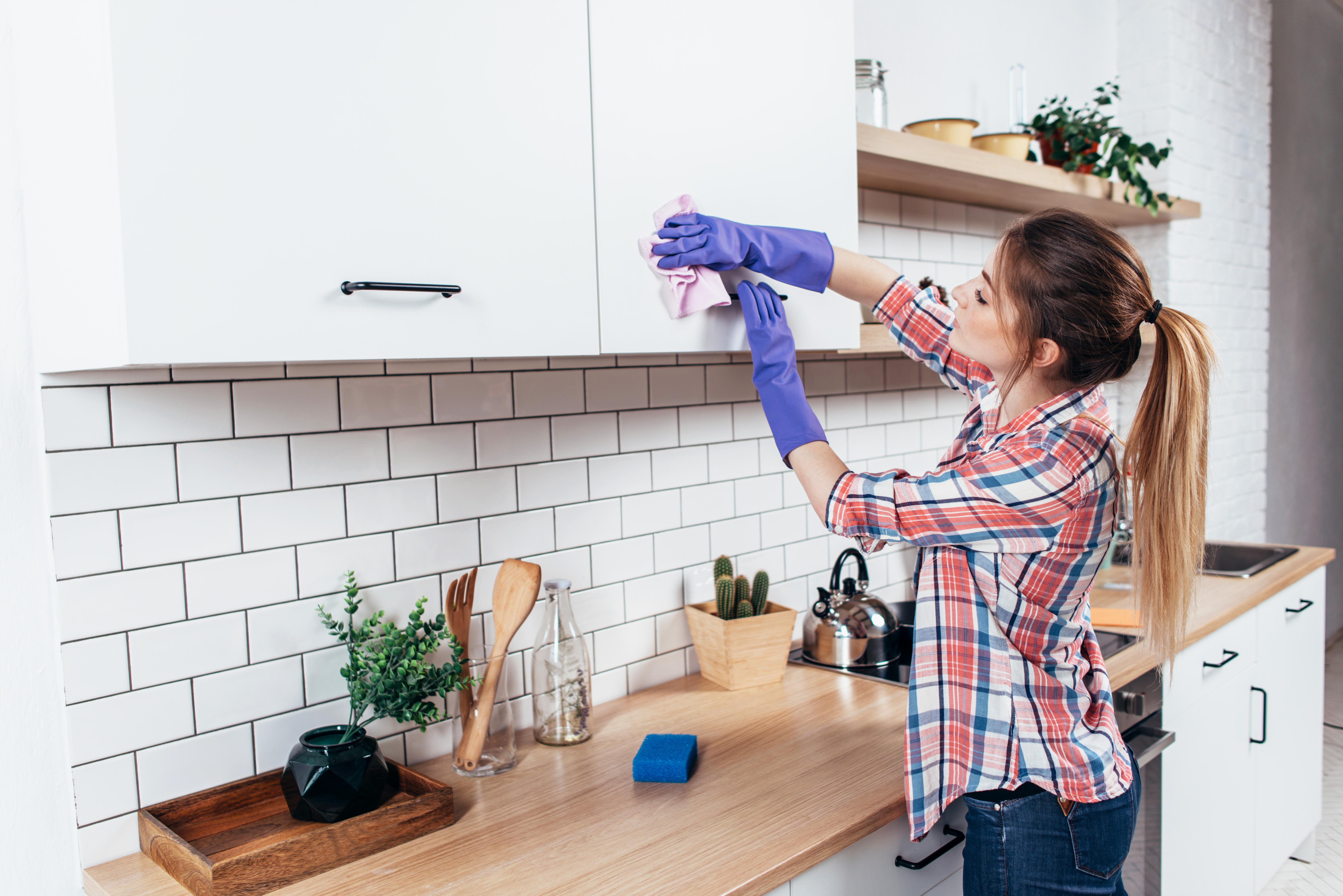 Сушилника за съдове.Той трябва да се почиства всяка седмица с дезинфектант и да не се оставя мокър. След като приберете съдовете, изплакнете хубаво сушилника, махнете водата, която се е събрала под него и го подсушете с кухненска хартия.