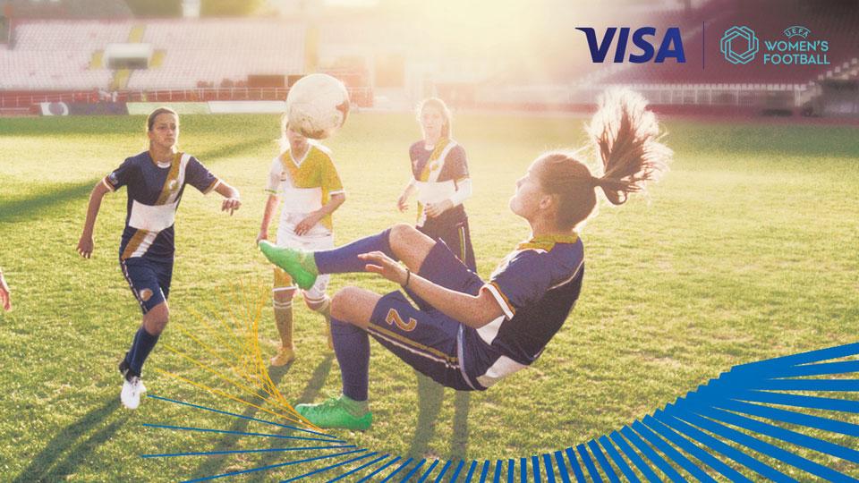 Visa вдъхновява и подкрепя жените във футбола