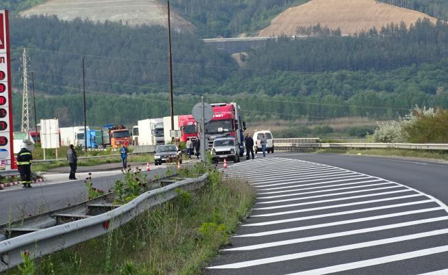 Теч на газ метан затвори Е-79 край Благоевград