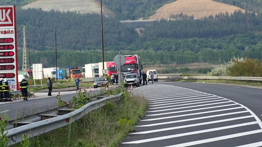 <p>Теч на газ метан затвори Е-79 край Благоевград</p>